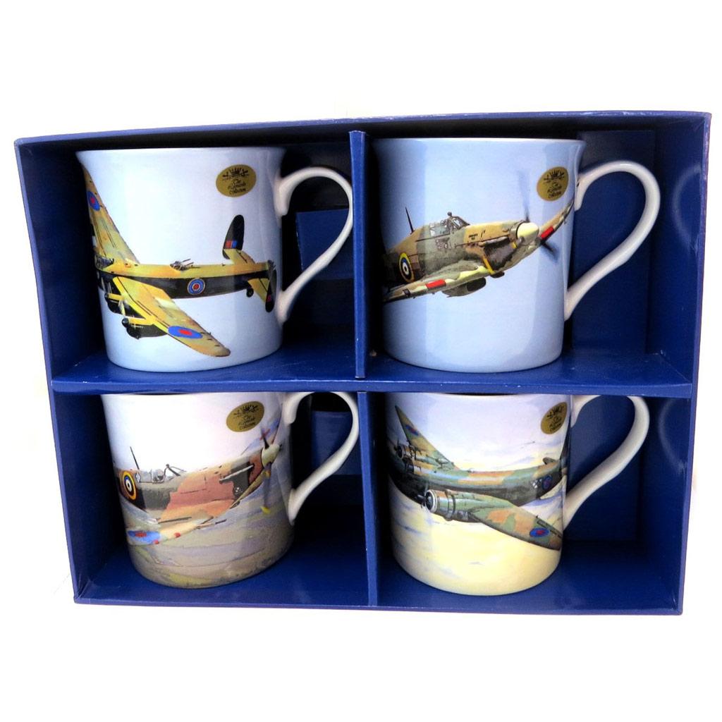 Coffret cadeau \'Avions de Collection\' (4 mugs) - [P5218]