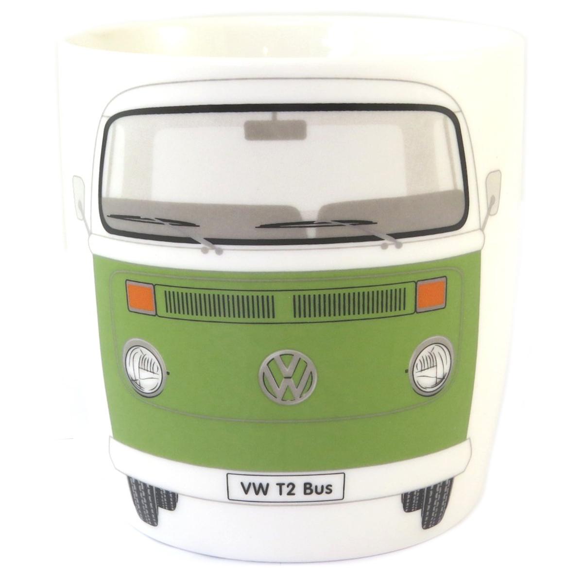 Mug porcelaine \'Volkswagen\' vert vintage - 93x85 mm (37 cl) - [Q1841]