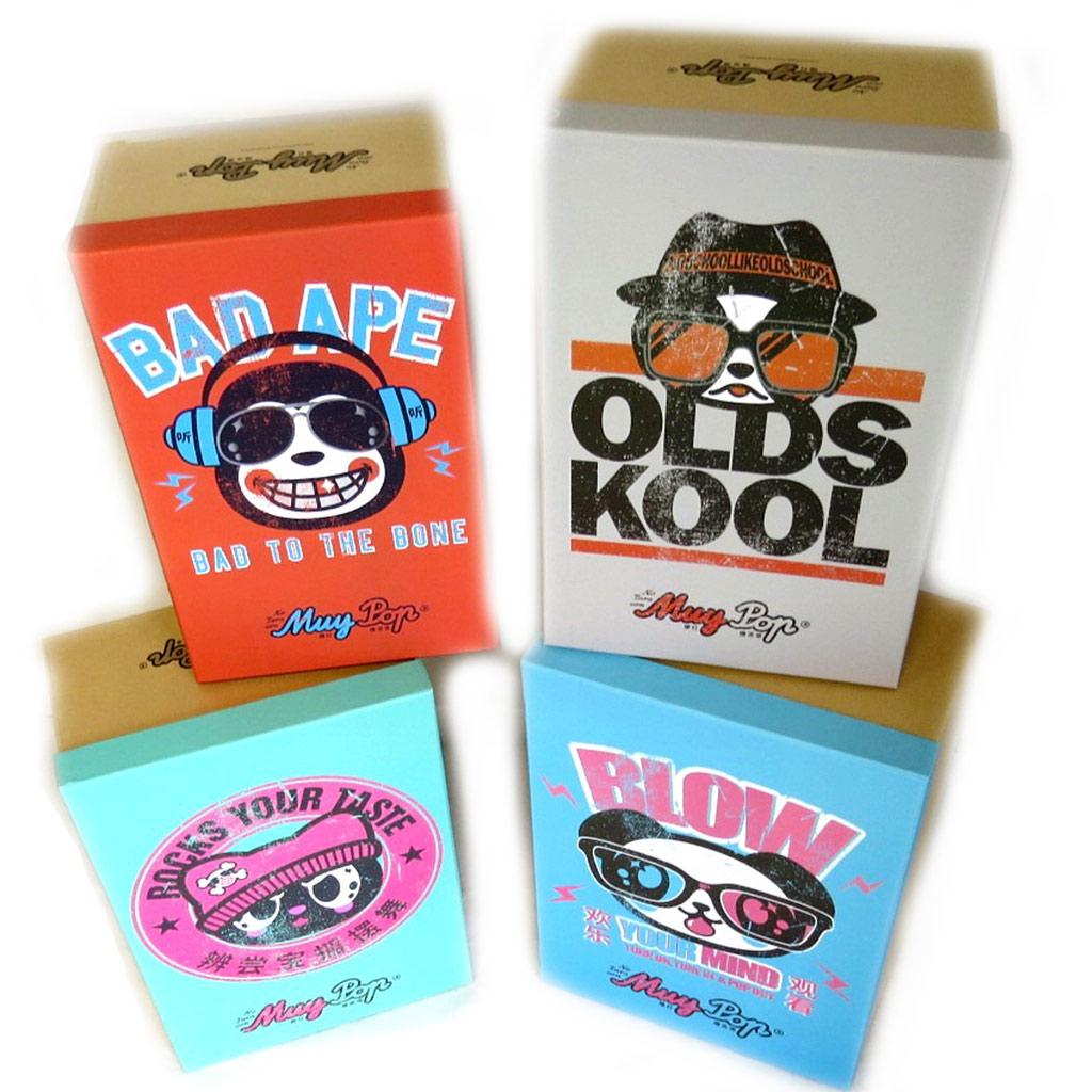 Set de 4 boîtes de rangement \'Muy Pop\' multicolore - [L8831]