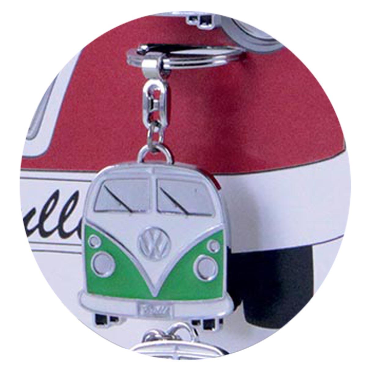 Porte-clés créateur \'Volkswagen\' vert (combi van bus) - 10x4 cm - [R0586]