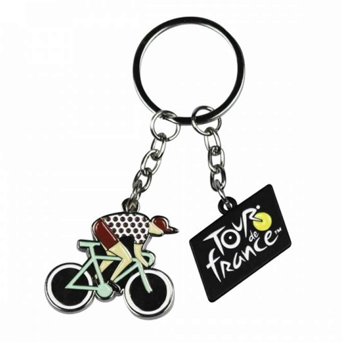 Porte-Clés \'Tour de France\' vélo - 10x4 cm (vélo 4x3 cm) - [R1891]