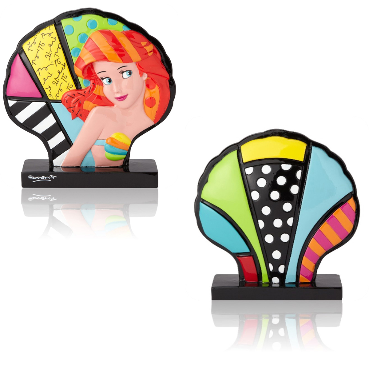 Figurine créateur \'Ariel & le coquillage\' multicolore (Britto) - 125 cm - [Q1851]