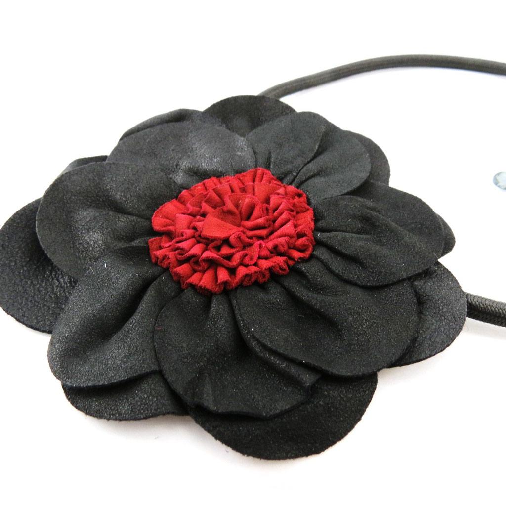 Collier Créateur \'Rouge Passion\' noir rouge - [J2011]