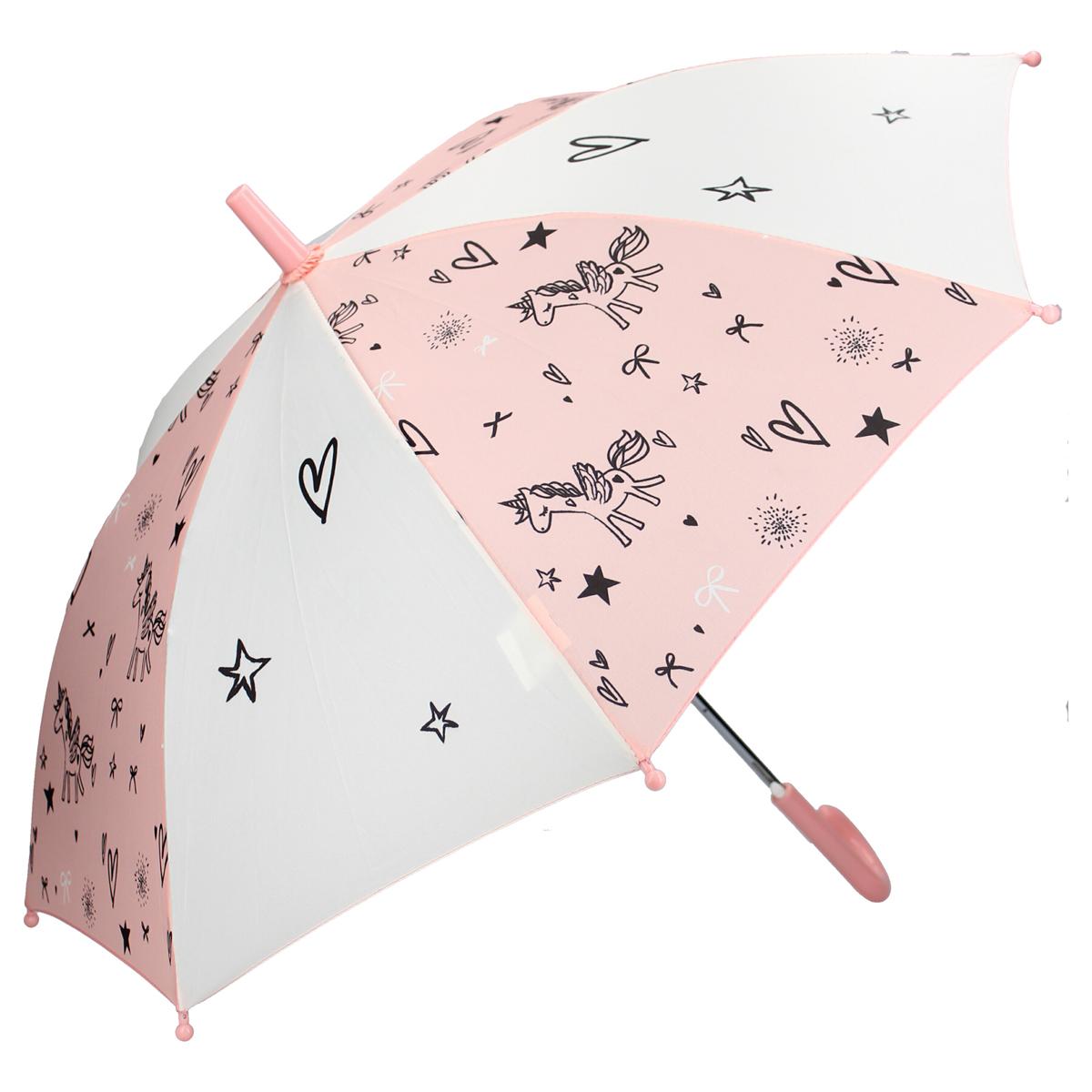 Parapluie enfant \'Licorne My Unicorn\' rose blanc - 44x78 cm - [A0100]