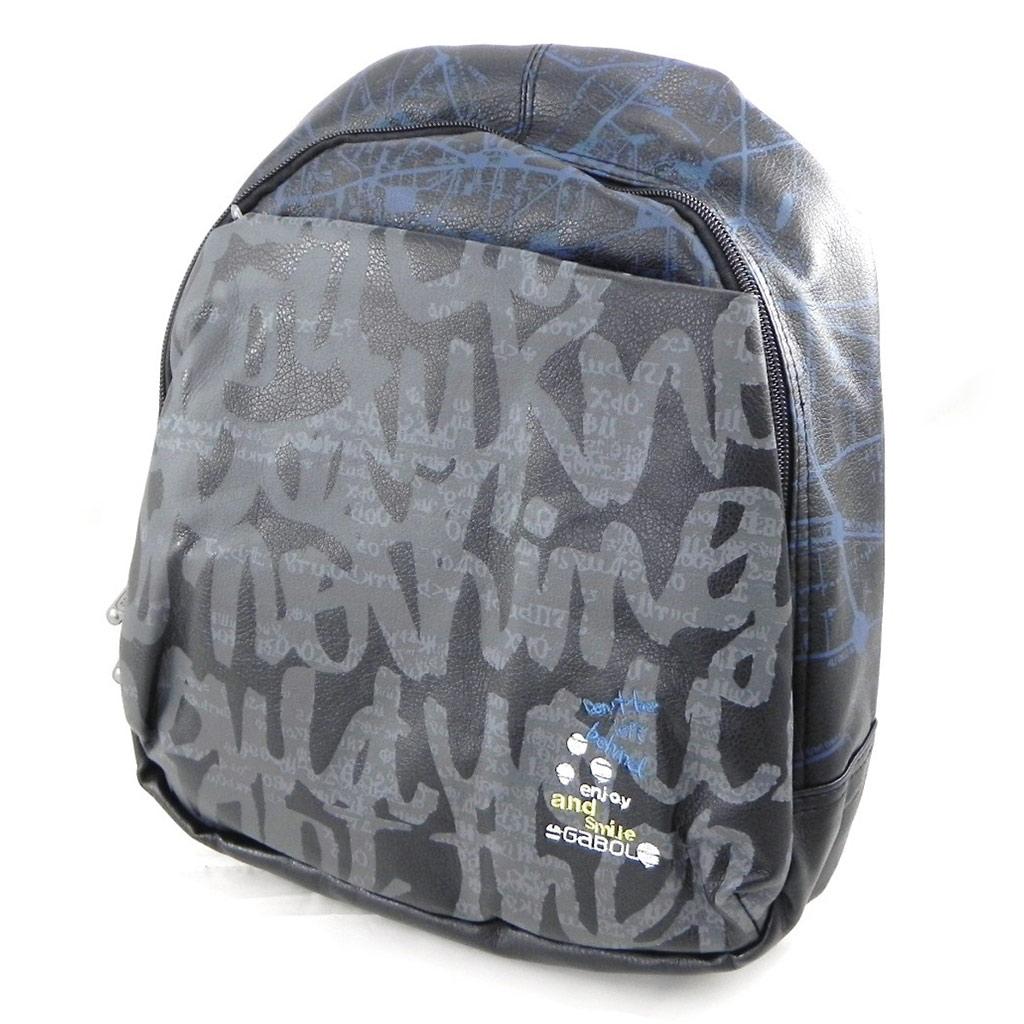 Sac à dos \'Graffiti\' noir bleu - [I7925]