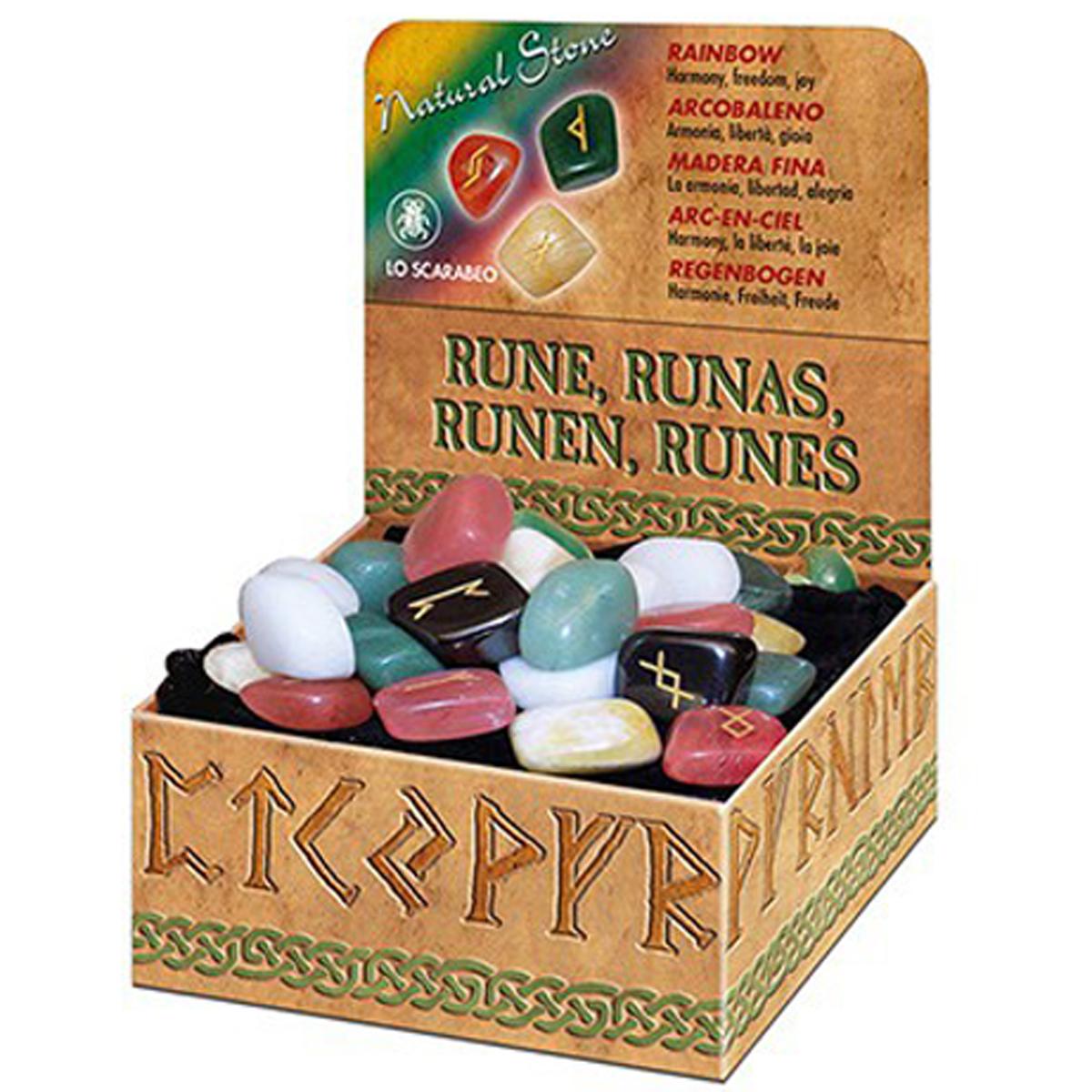 Coffret \'Runes\' multicolore (harmonie, liberté, joie) - [R0602]