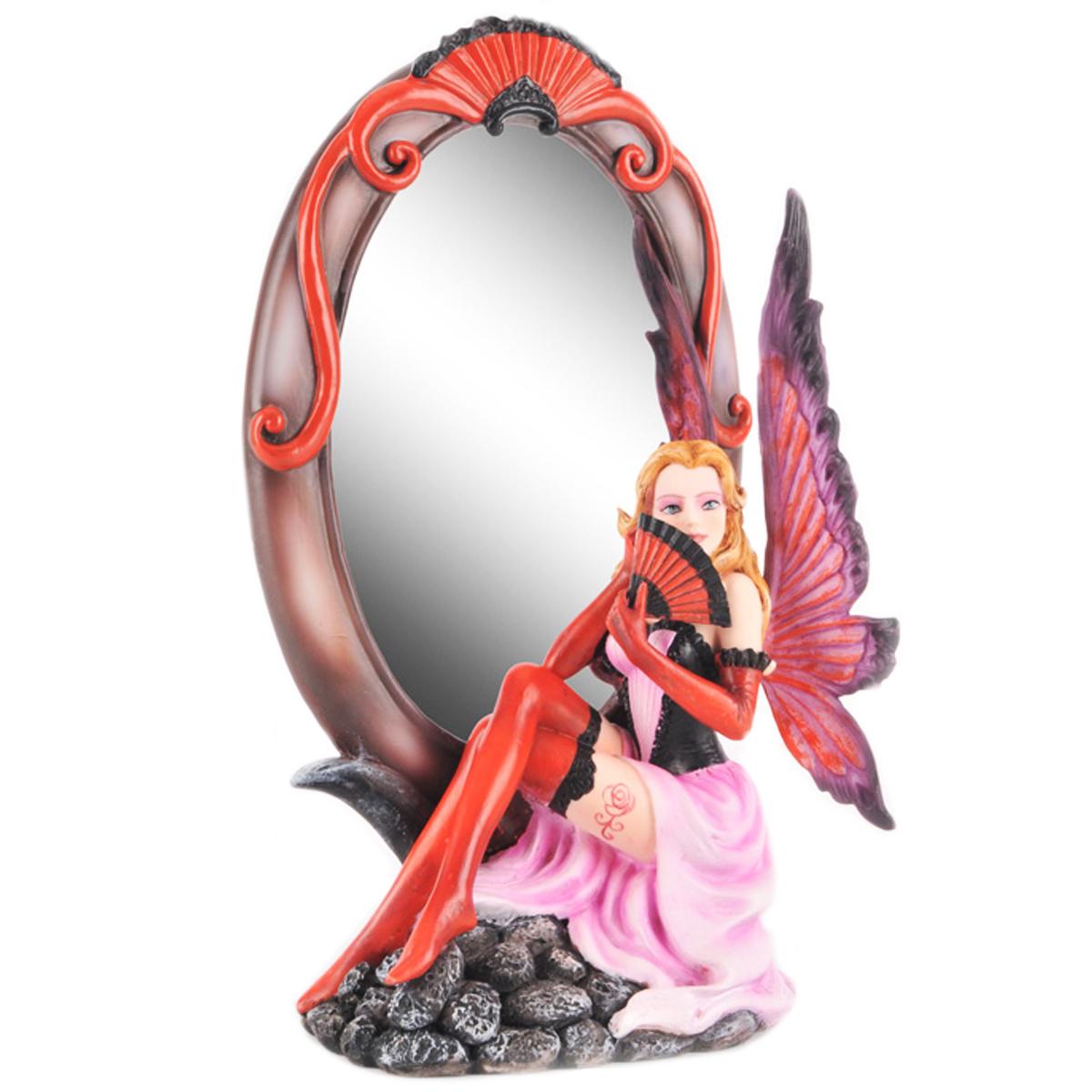 Miroir \'Fairy Dreams\' rouge éventail - 245x14x9 cm - [Q1884]