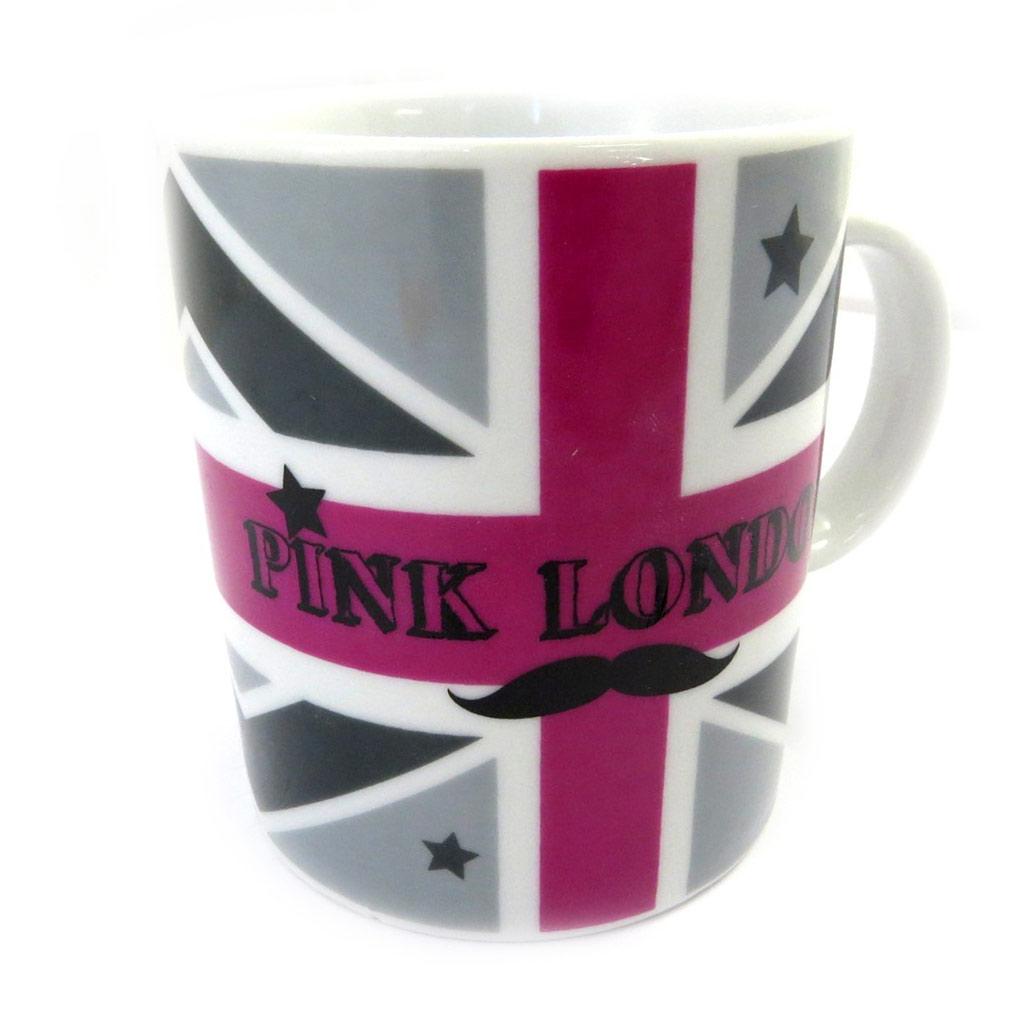 Mug céramique \'So British\' rose gris - [L8973]