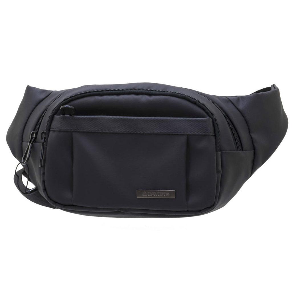 Pochette ceinture / banane toile \'Davidt\'s\' noir - 28x16x7 cm - [N7883]