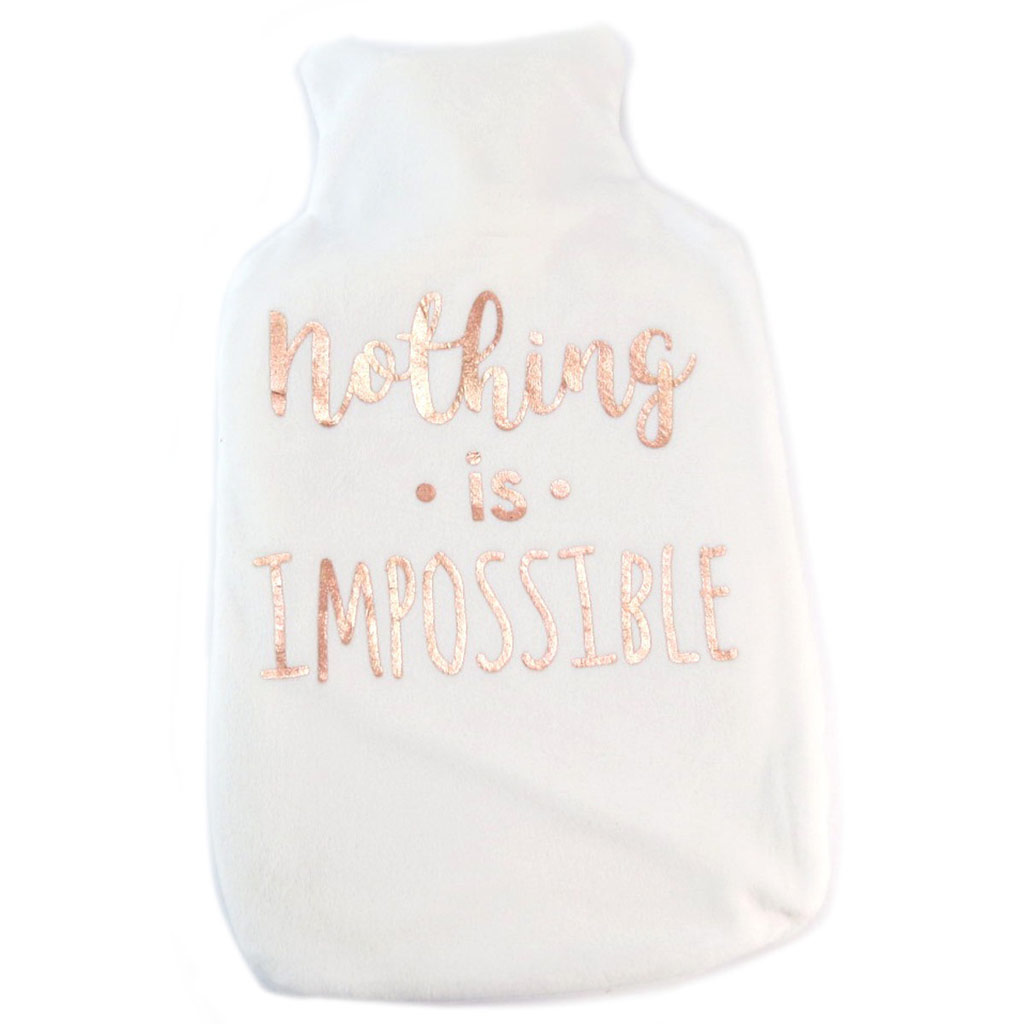 Bouillotte créateur \'Messages\' (Nothing is impossible) - 2L - [P5273]