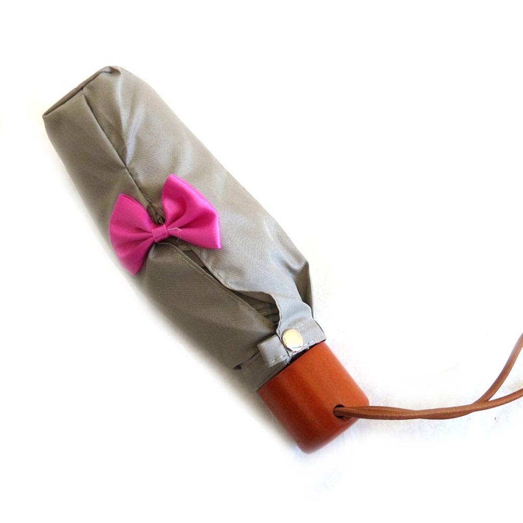 Parapluie mini Neyrat \'Noeud Romantique\' taupe - [M2630]