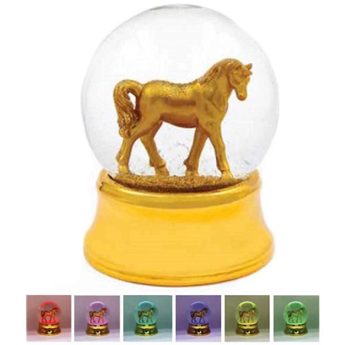 Boule à eau led musicale \'Licorne My Unicorn\' doré - 12x10 cm - [Q1890]
