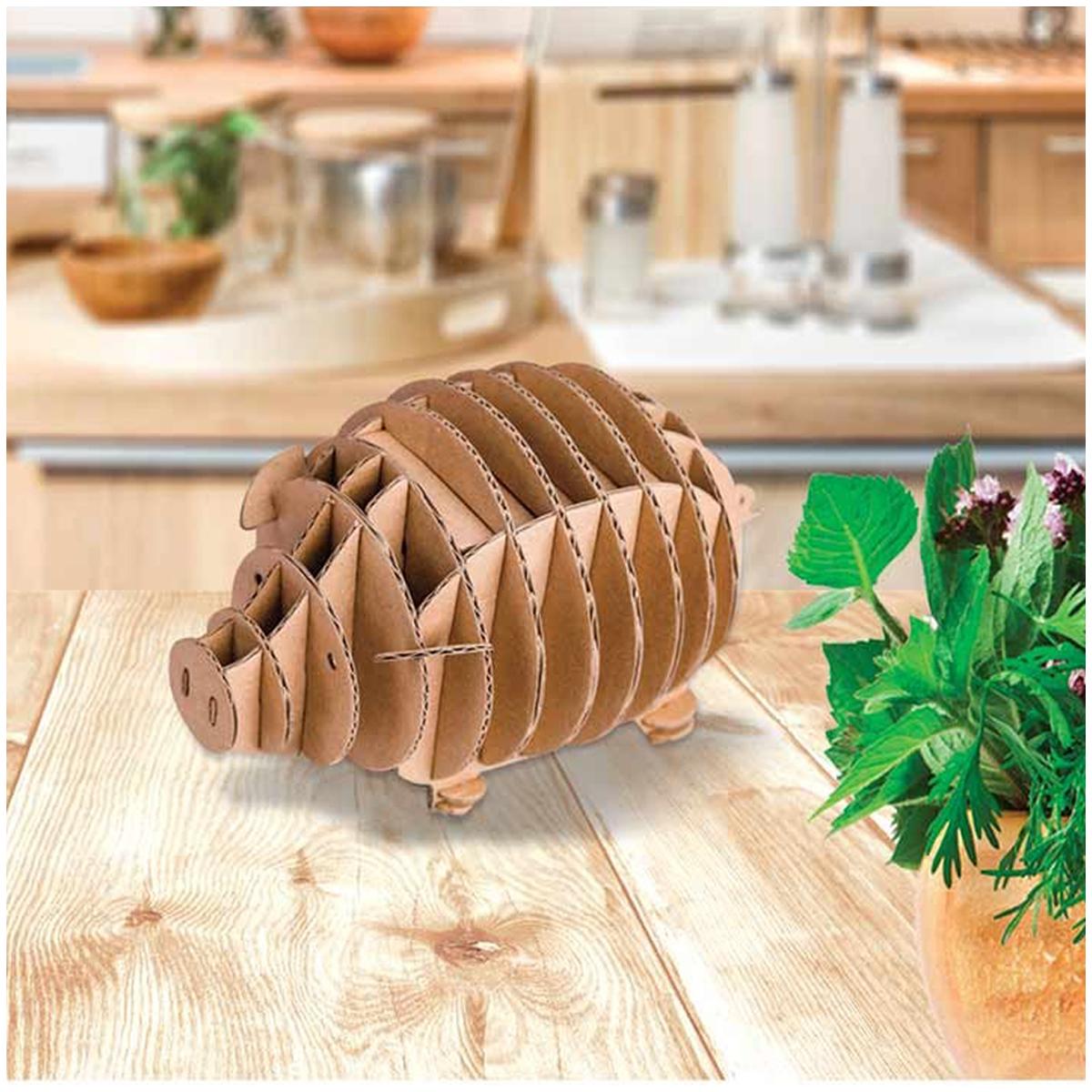 Figurine carton 3D \'Cochon\' - planches 165x175 cm - [Q9221]