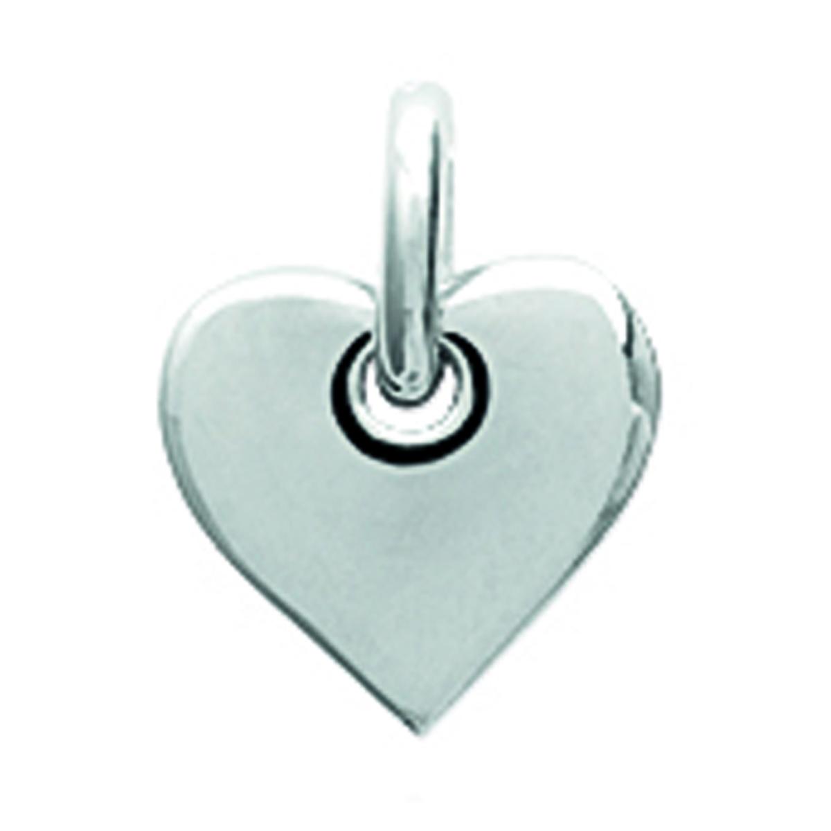 Pendentif Argent \'Love\' (rhodié) - 8x7 mm - [N3395]
