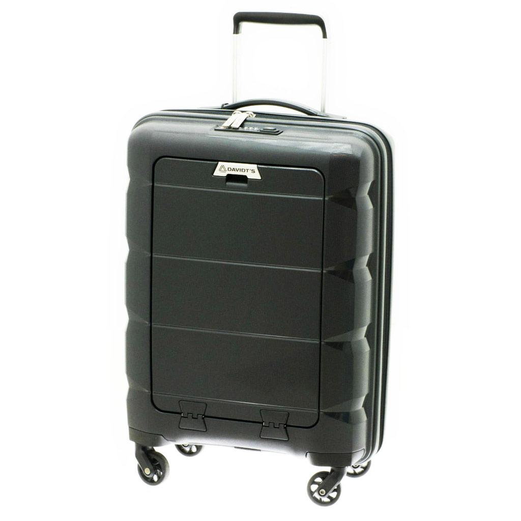 Business trolley case polypropylène \'Davidt\'s\' noir (format cabine) - 545x38x195 cm - [N7894]