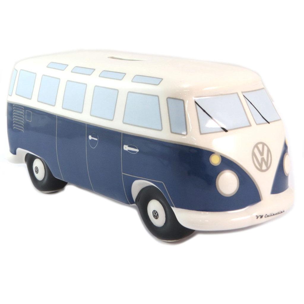 Tirelire céramique \'Volkswagen\' bleu blanc - 205x8 cm - [P5311]