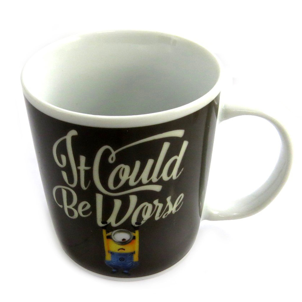Mug céramique \'Minions\' noir - (it could be worse) -  33 cl - [M2678]