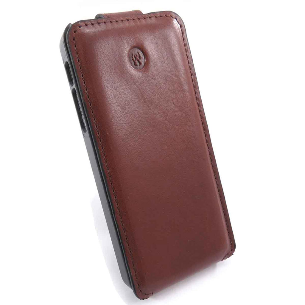 Etui Iphone 5 \'Lafayette\' marron - [J6580]