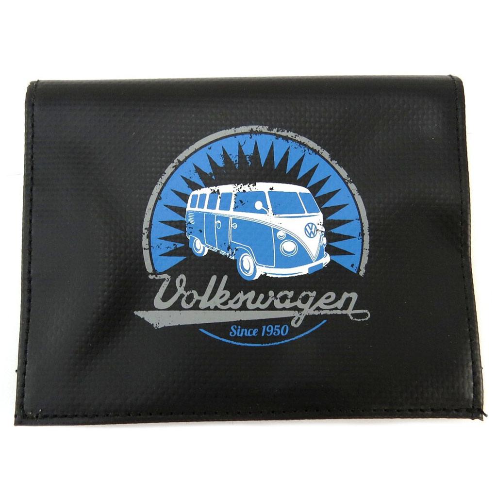 Portefeuille rétro \'Volkswagen\' noir bleu - 135x105 cm - [P5321]