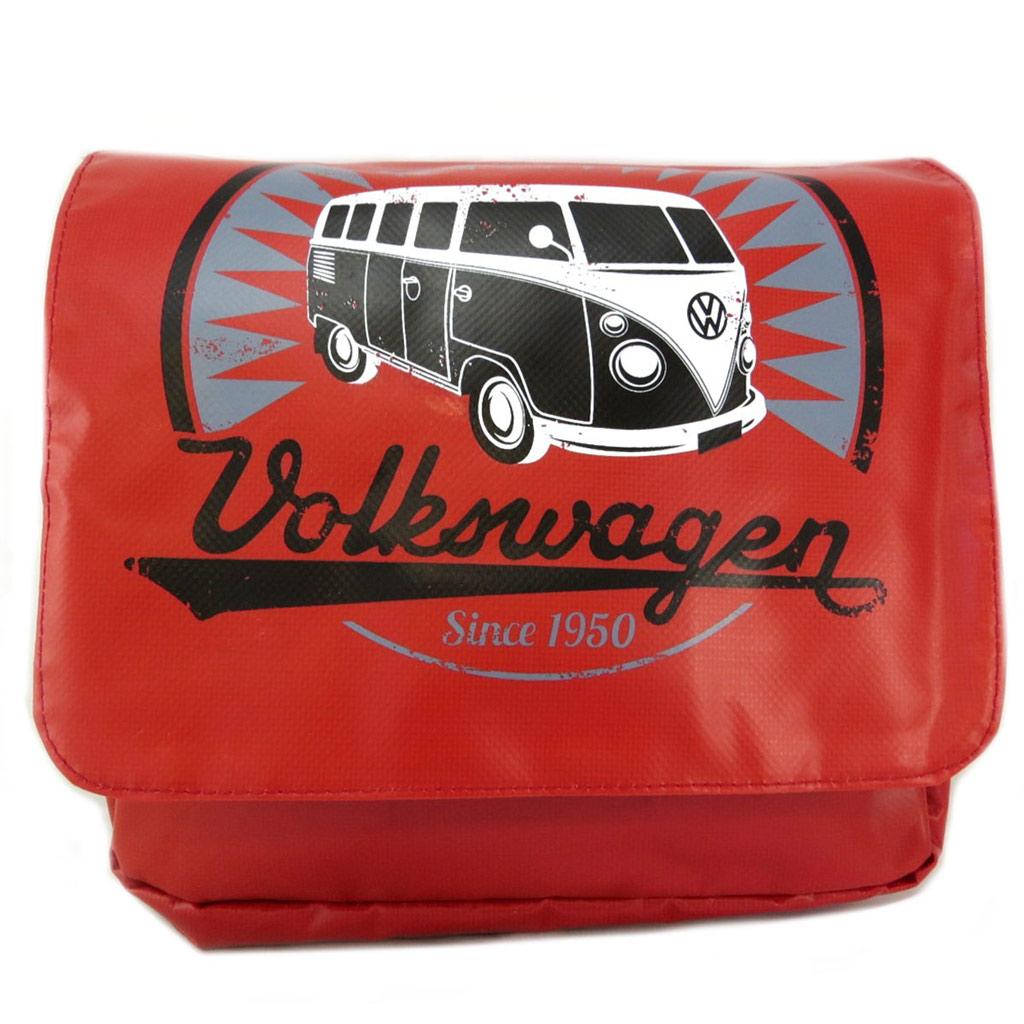 Sacoche tablette \'Volkswagen\' rouge - 30x21 cm - [P5328]