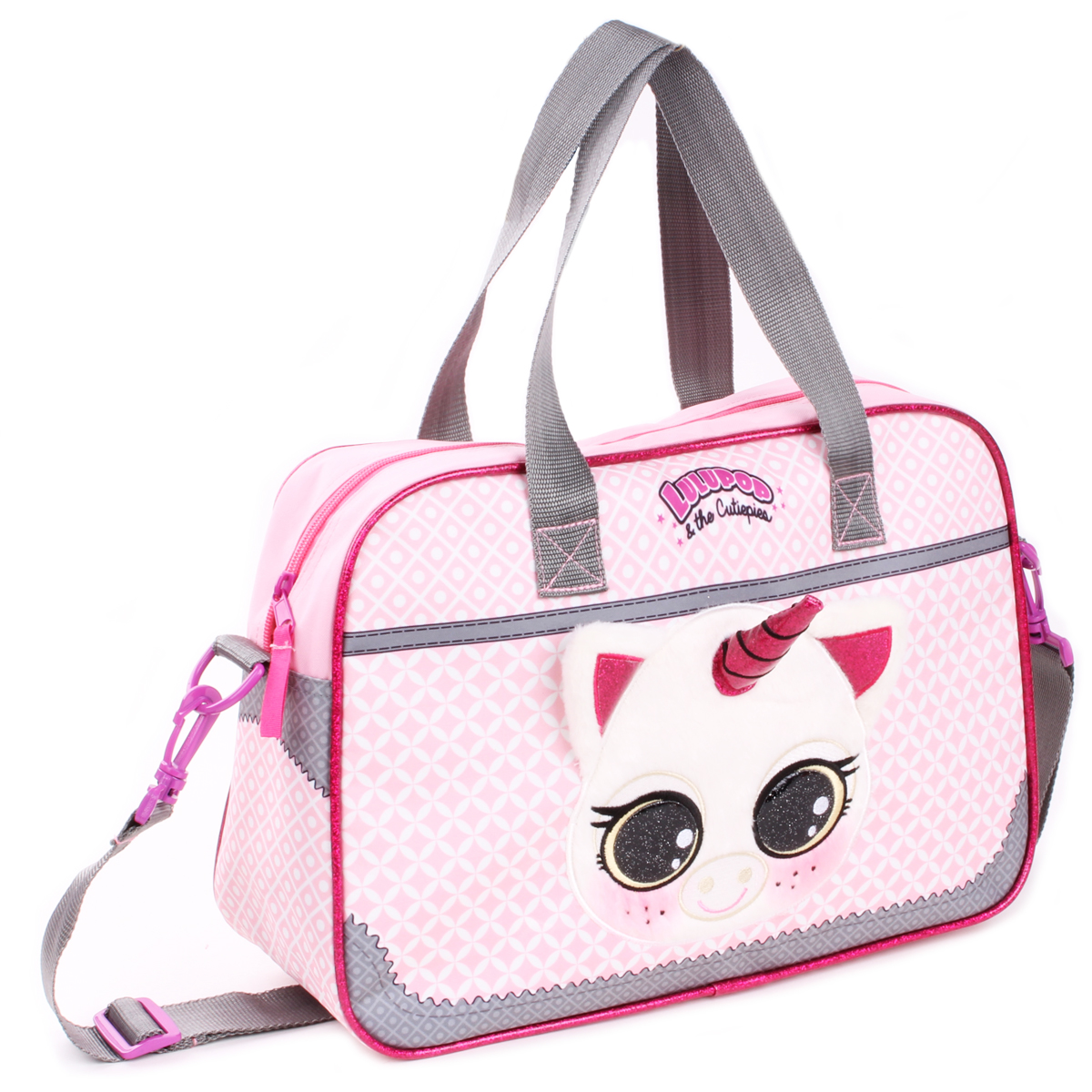 Sac bowling \'Licorne My Unicorn\' rose (Lulupop & the Cutiepies) - 38x27x12 cm - [Q1918]
