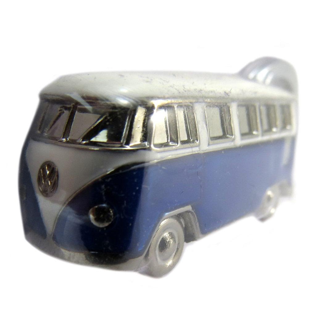 Porte-clés 3D \'Volkswagen\' bleu blanc argenté - 45x20 mm - [P5330]