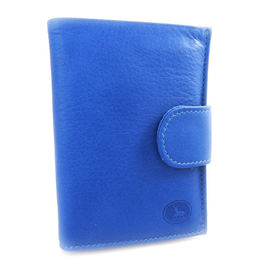 Portefeuille Cuir \'Frandi\' bleu sauvage - [L5886]