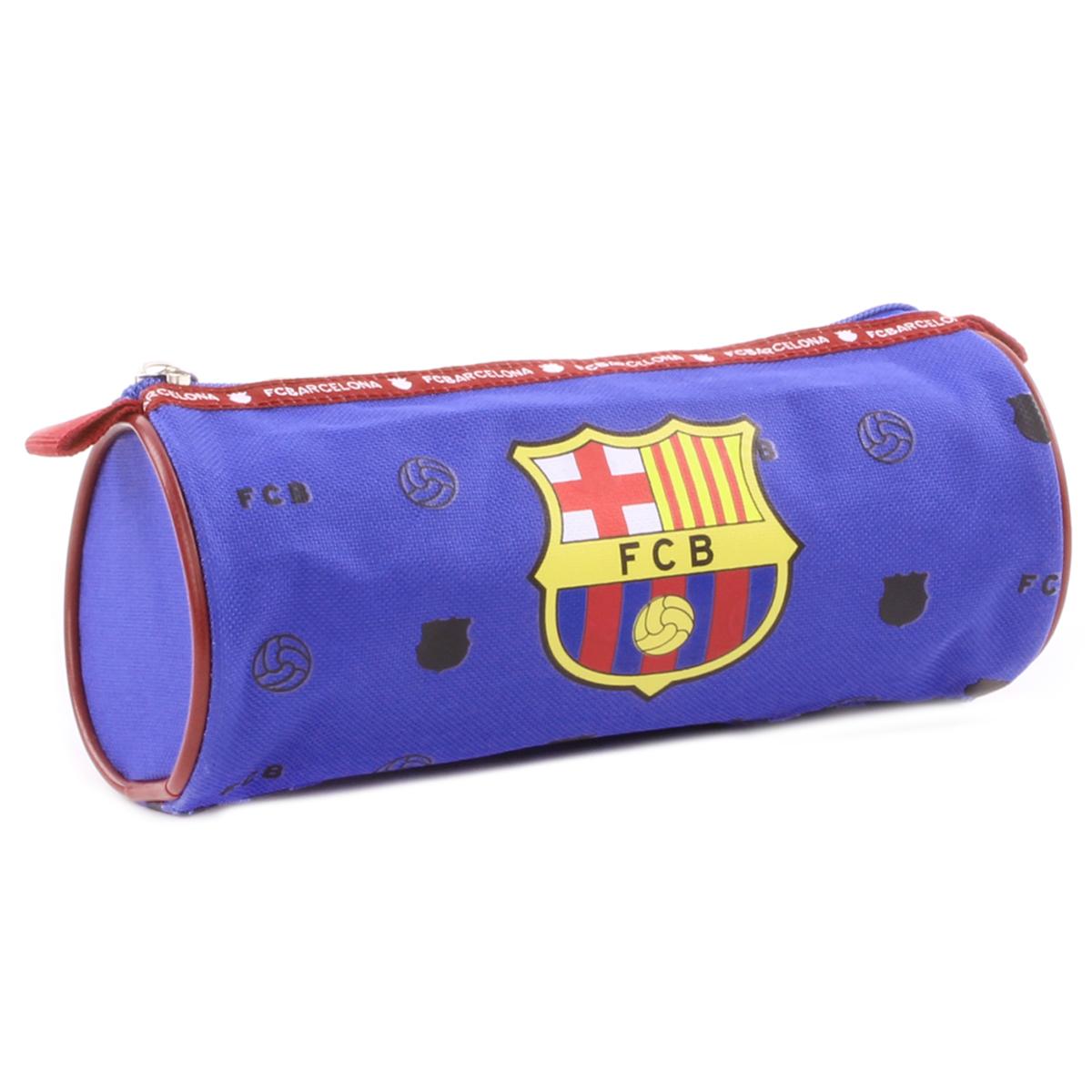 Trousse tube \'FC Barcelona\' bleu rouge - 20x8 cm - [Q1928]