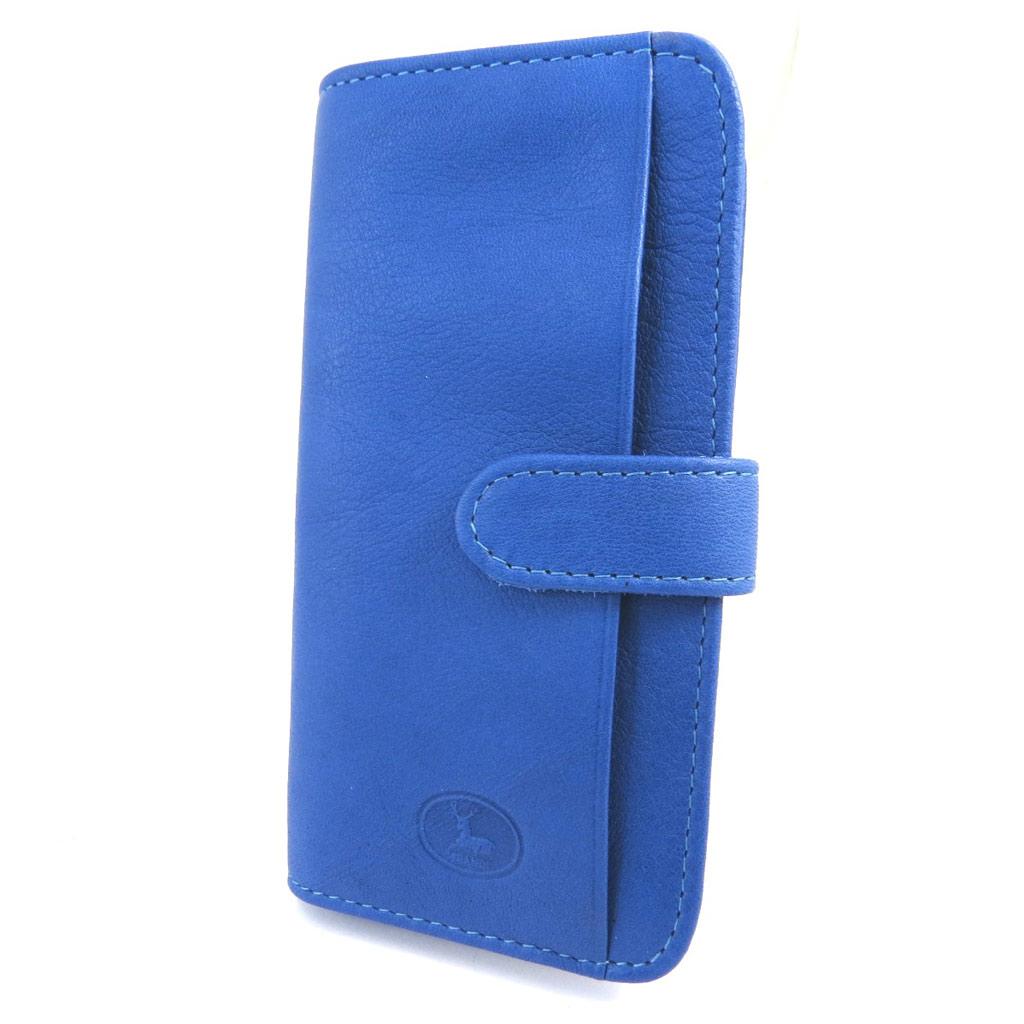 Porte-cartes Cuir \'Frandi\' bleu - [L5888]