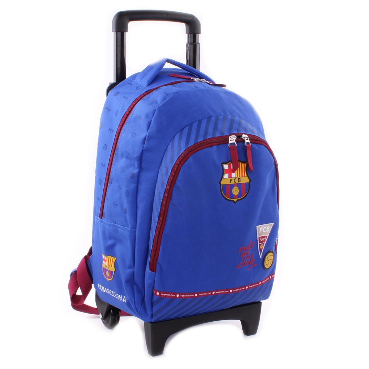 Sac à dos trolley \'FC Barcelona\' bleu rouge - 45x31x17 cm - [Q1929]