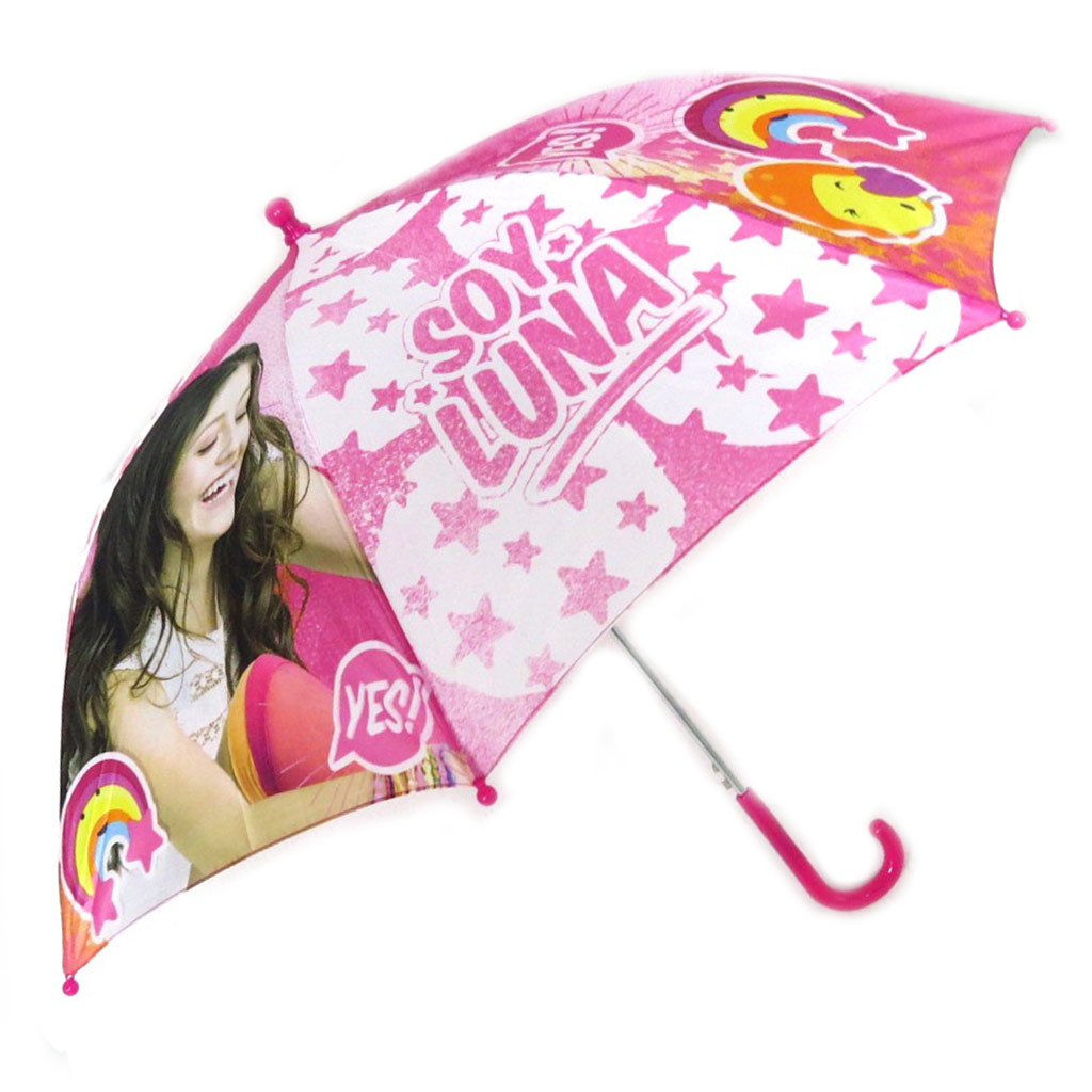 Parapluie automatique \'Soy Luna\' rose - 46 cm - [N9951]