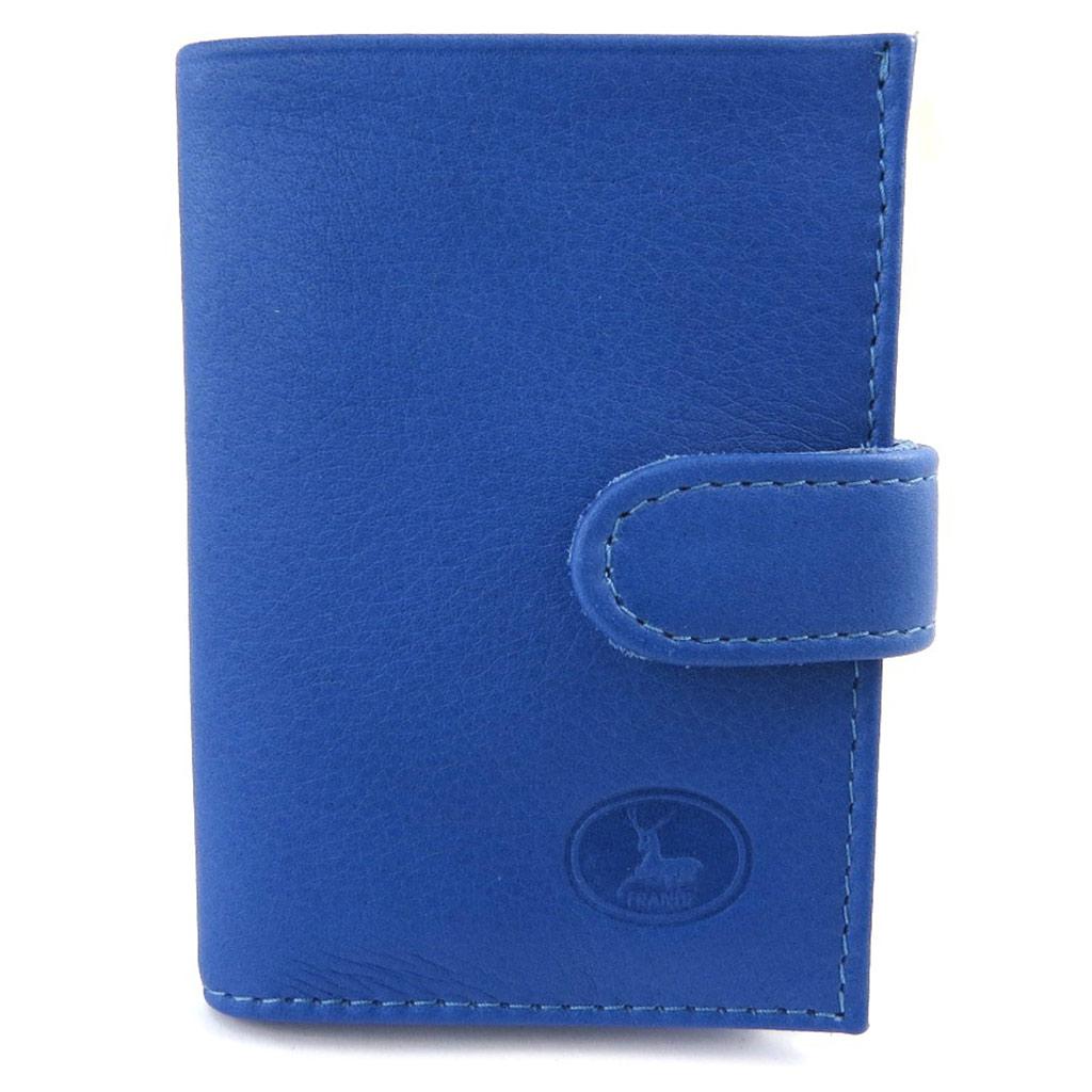 Porte-cartes Cuir \'Frandi\' bleu - [L5892]