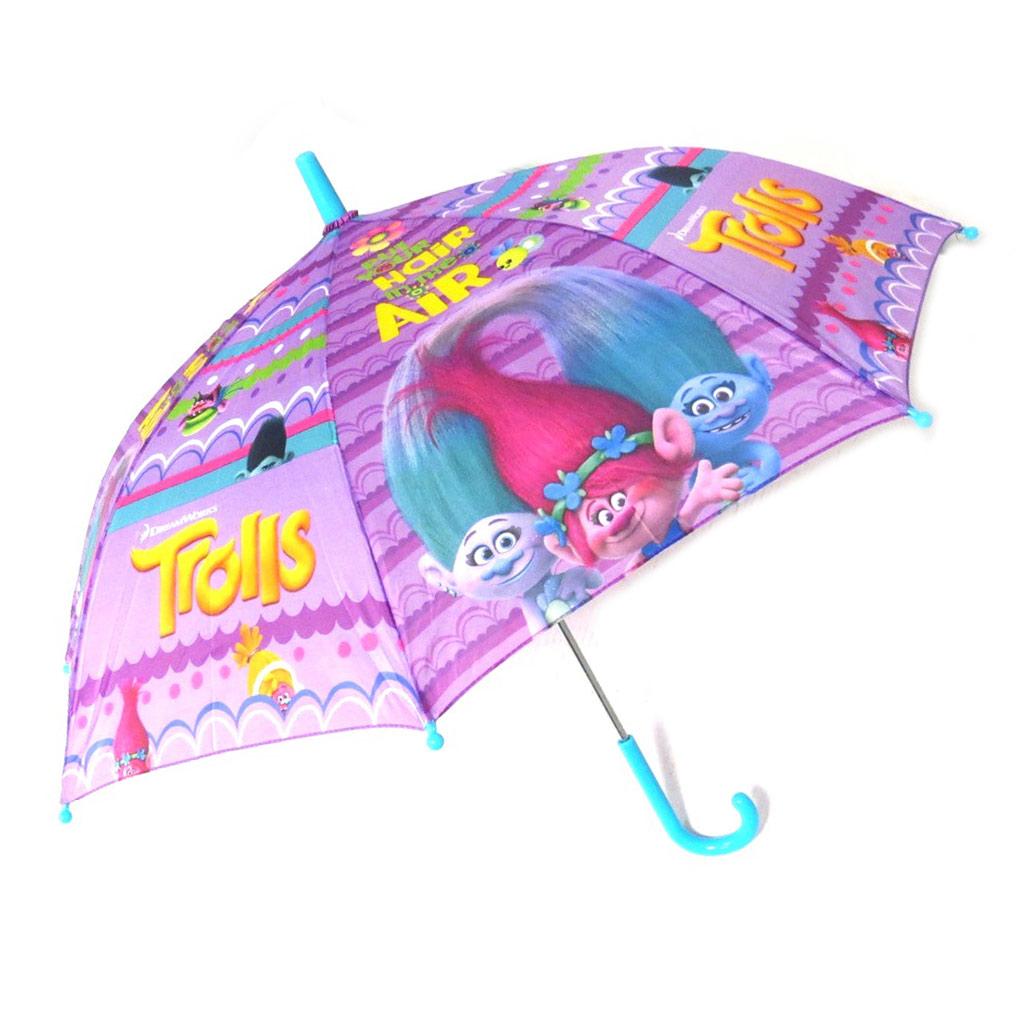 Parapluie canne manuel \'Trolls\' violet - 45 cm - [N9956]