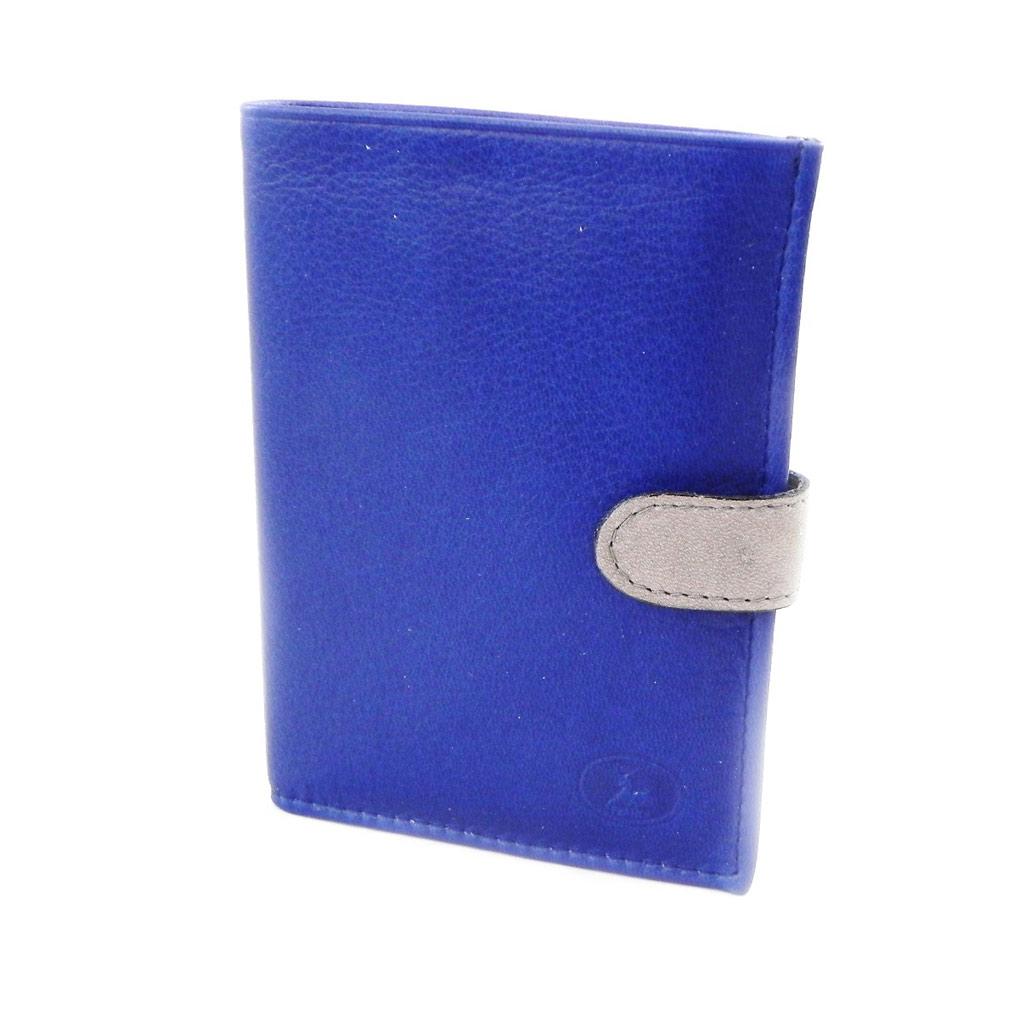 Portefeuille Cuir \'Frandi\' bleu gris sauvage - [I8003]