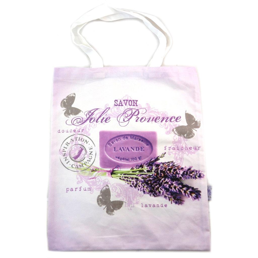 Sac coton / tote bag \'Lavande Jolie Provence\' lavande - 445x38 cm - [N7929]