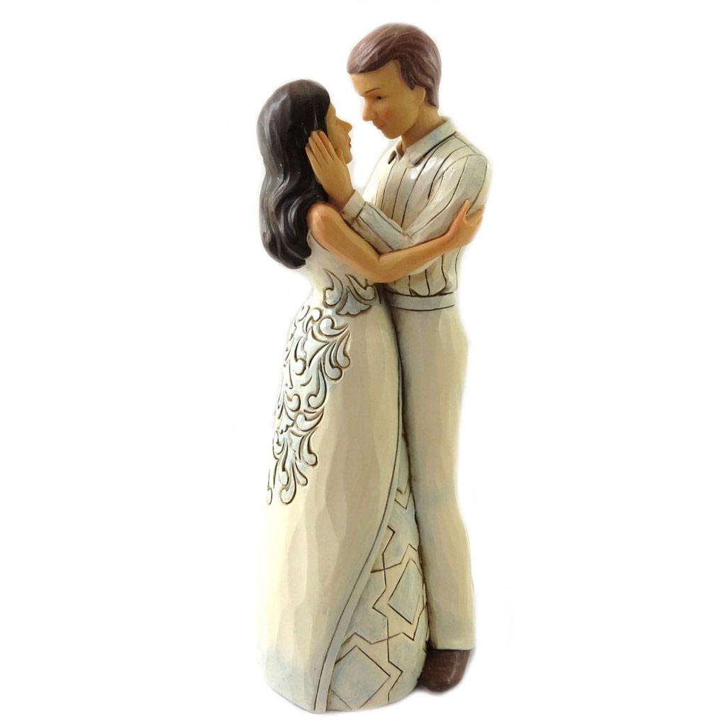 Figurine créateur \'Couple Amoureux\' beige (Jim Shore) - 23x95 cm - [N7972]