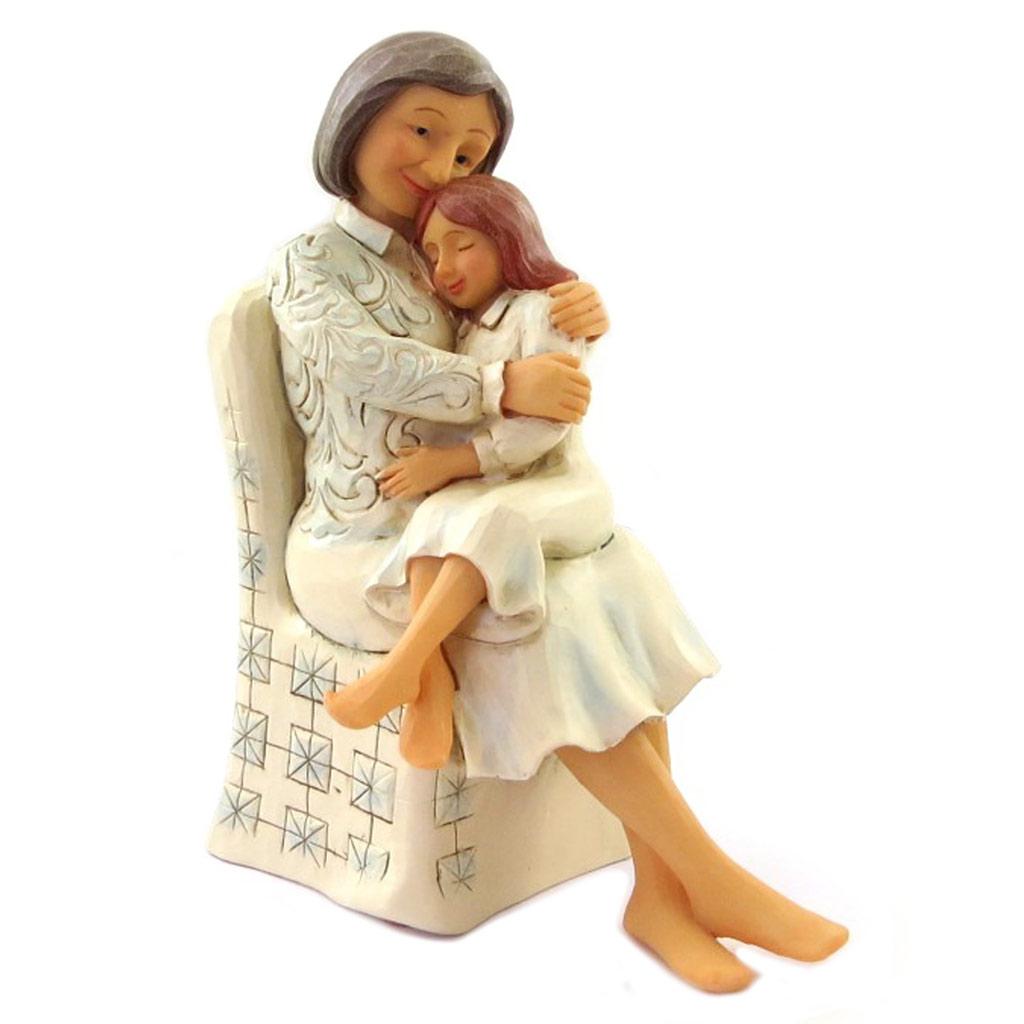 Figurine créateur \'Grand-Mère & Petite fille\' beige (Jim Shore) - 145x105x6 cm - [N7973]