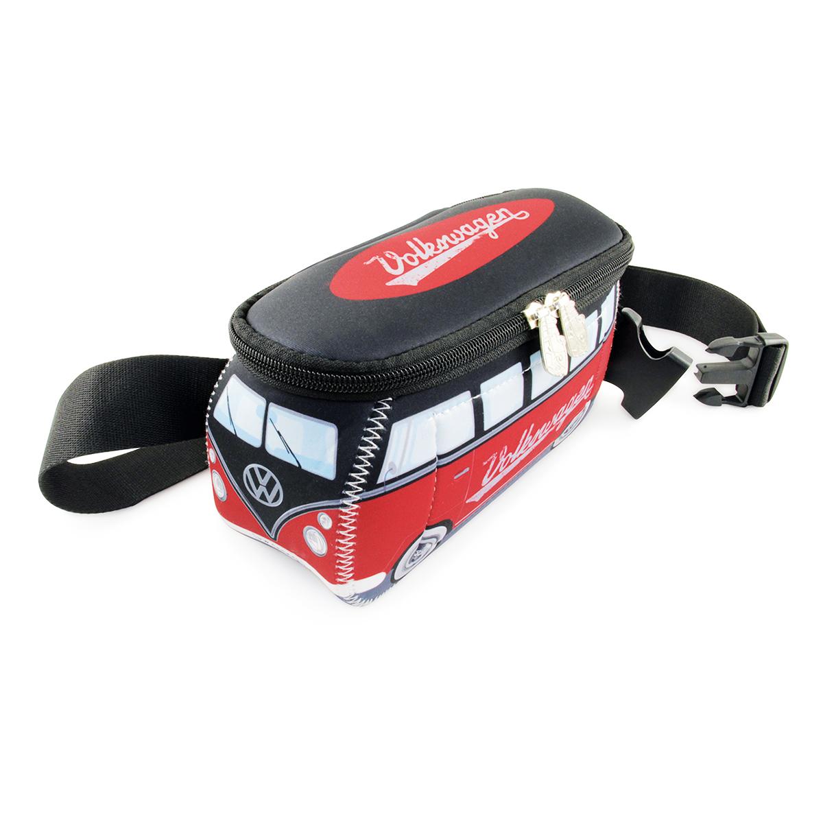 Pochette ceinture \'Volkswagen\' rouge noir - 25x11 cm - [Q1971]