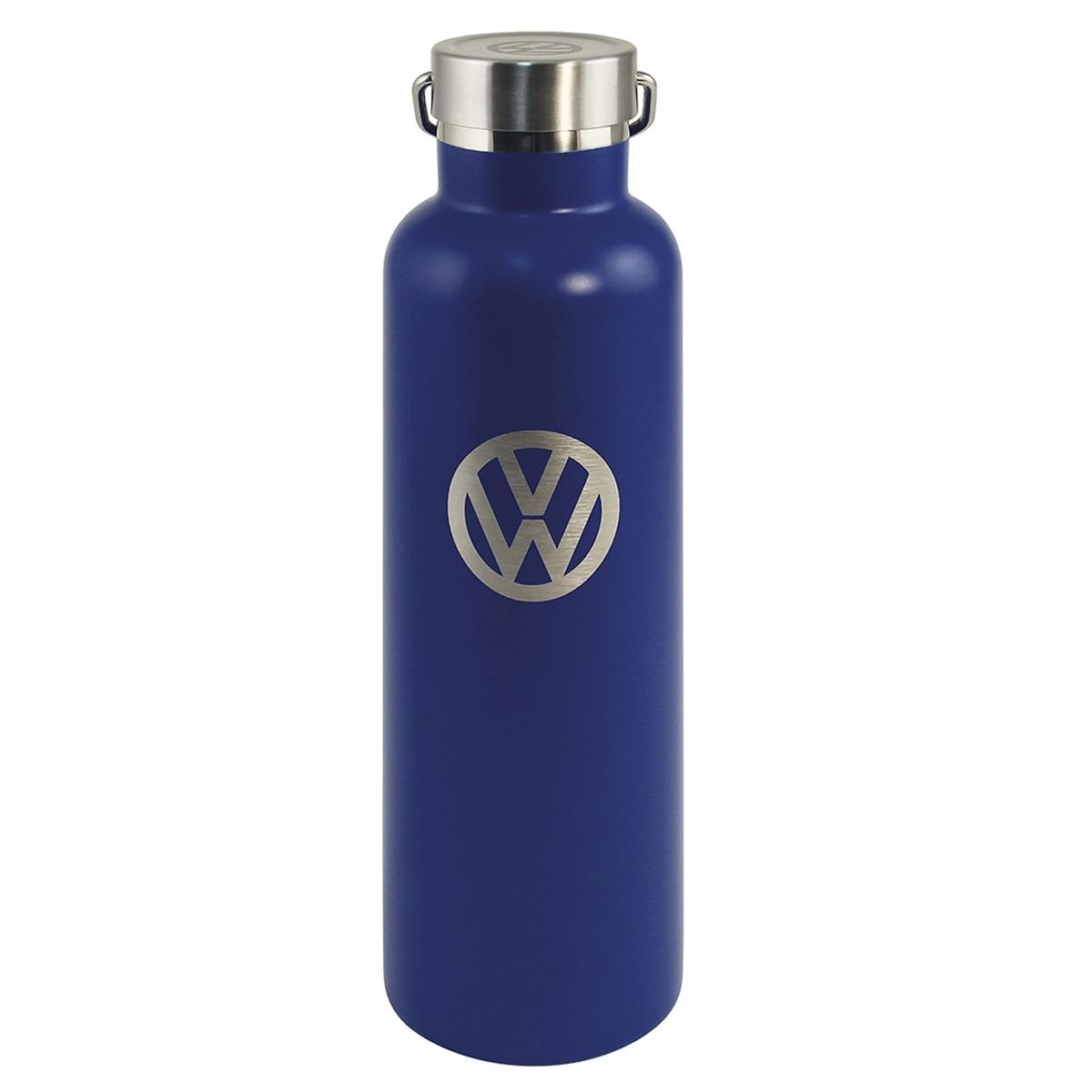 Bouteille isotherme design \'Volkswagen\' bleu gris vintage - 25x7 cm (735 cl) - [Q1991]