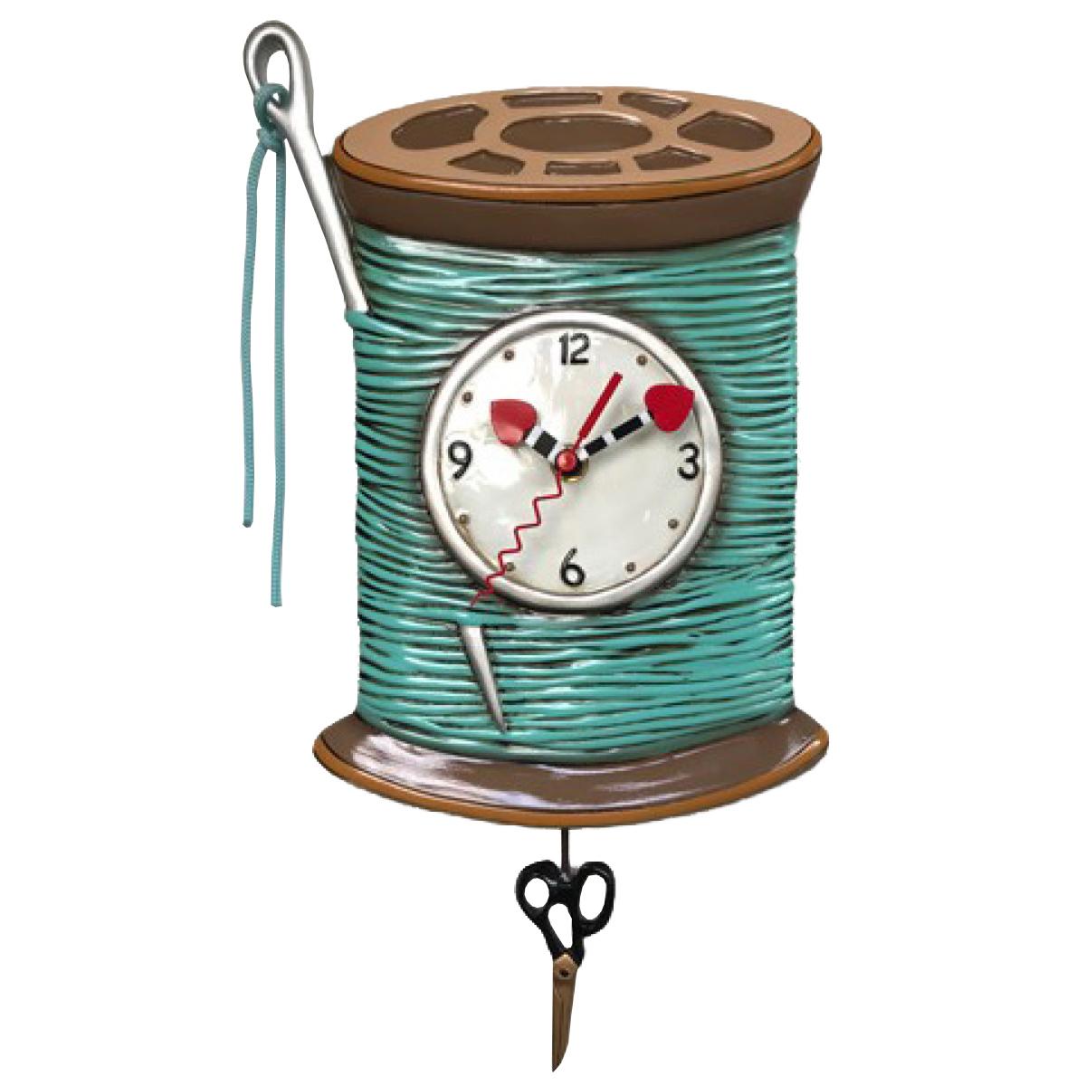 Horloge Murale \'Allen Designs\' turquoise marron (couture) - 26x155 cm - [Q1995]