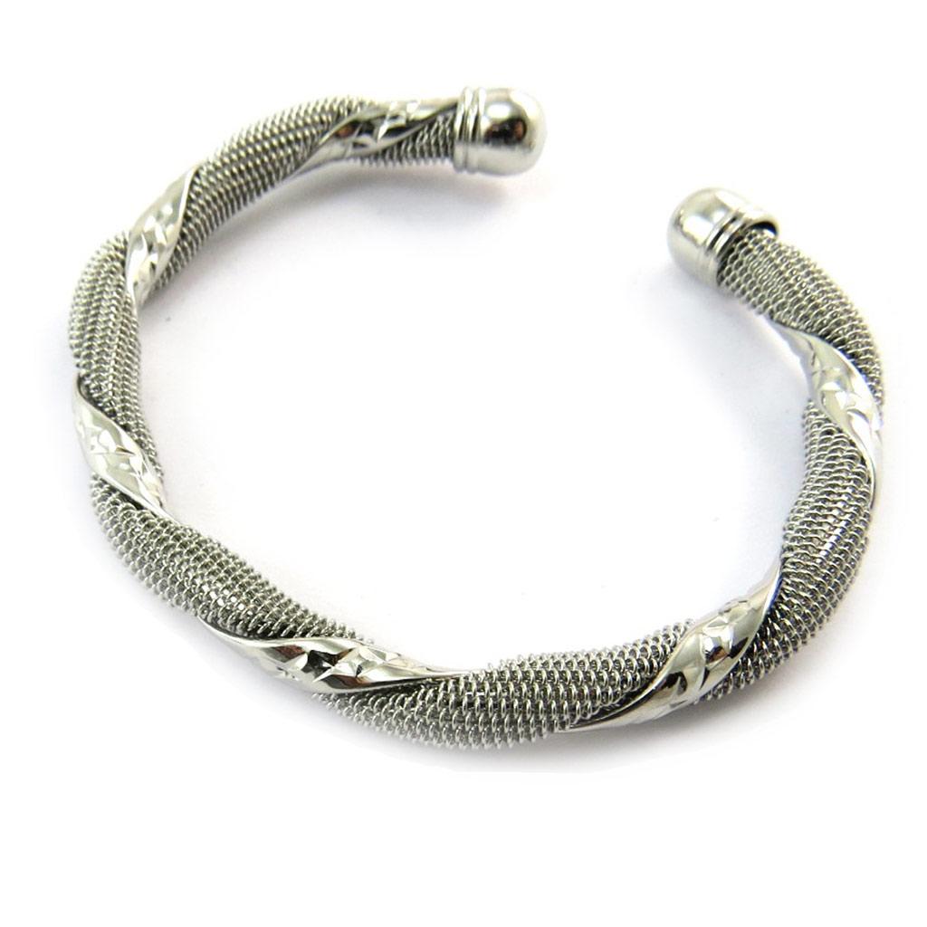 Bracelet \'Chorégraphie\' argenté - [N3473]
