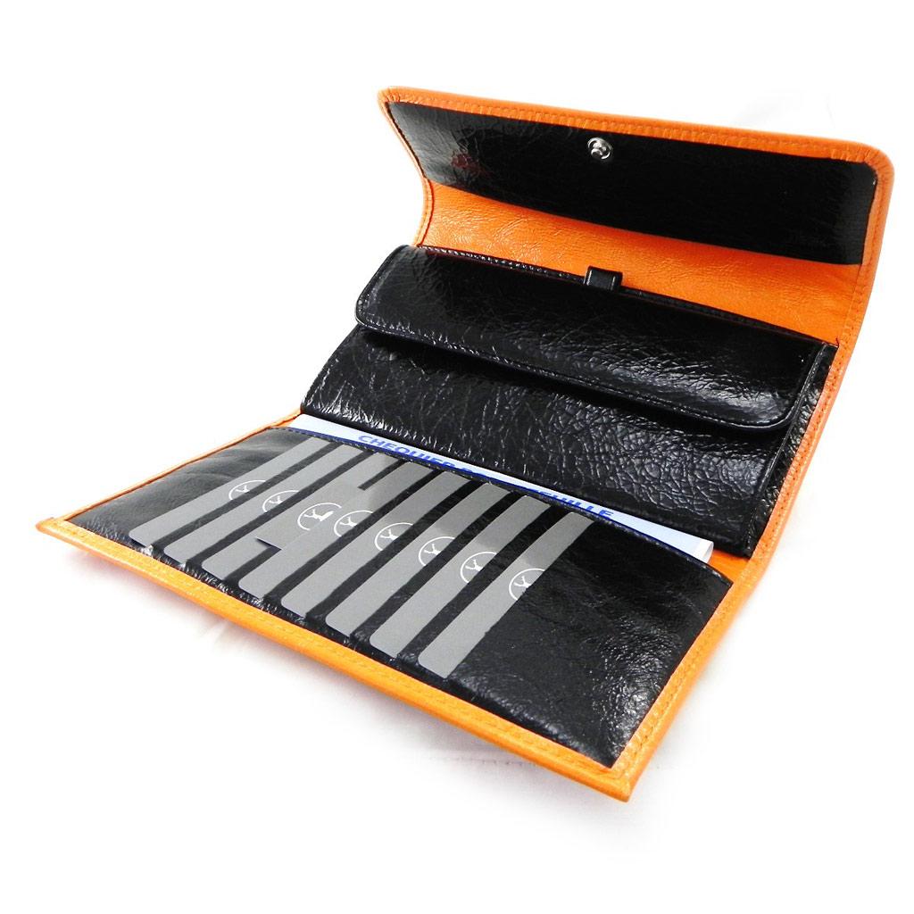 Compagnon Cuir \'Frandi\' orange noir vernis - [I8046]