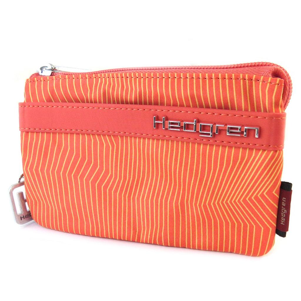 Porte-monnaie \'Hedgren\' orange (3 compartiments) - 145x95x2 cm - [P0016]