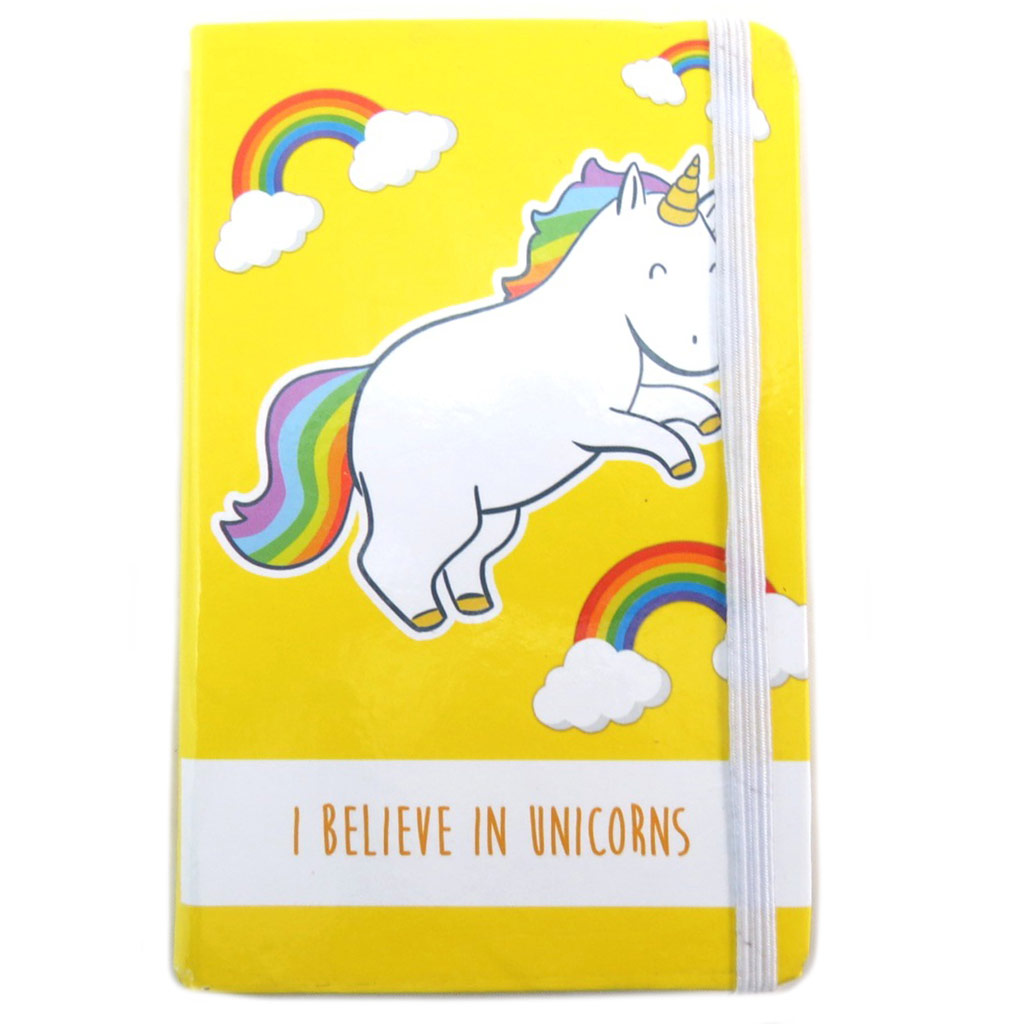 Carnet Intime \'Licorne My Unicorn\' jaune (I believe in Unicorns) - 145x95 cm - [N7991]