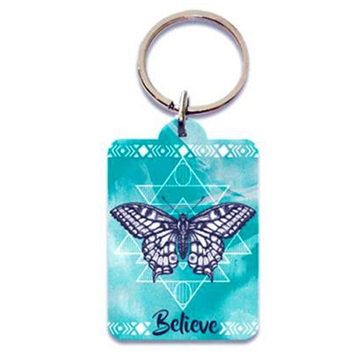 Porte-Clés \'Boho\' turquoise (papillon - believe) - 65x45 cm - [P5405]