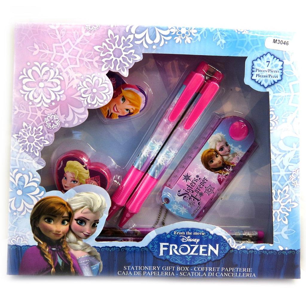 Set papeterie \'Frozen - Reine des Neiges\' rose (7 pièces) - [M3046]