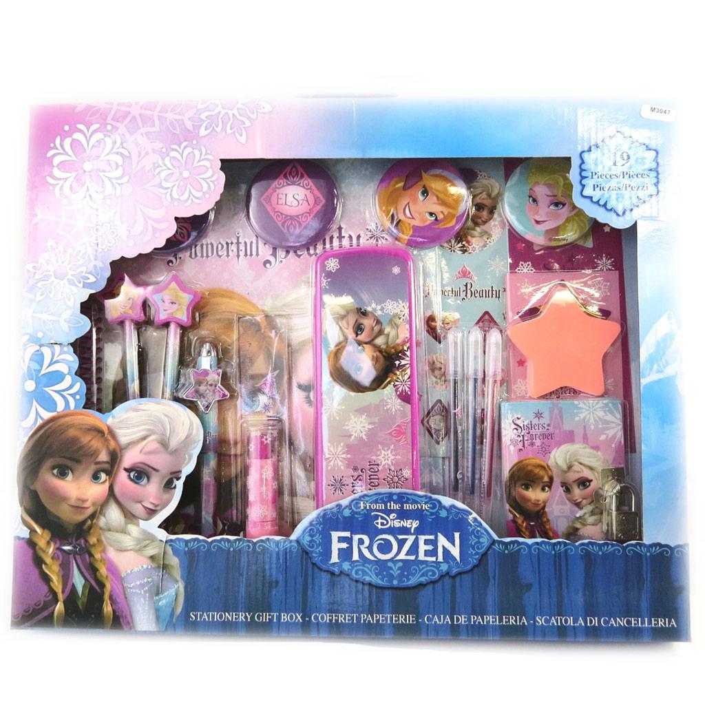 Set papeterie XXL \'Frozen - Reine des Neiges\' violet (19 pièces) - [M3047]
