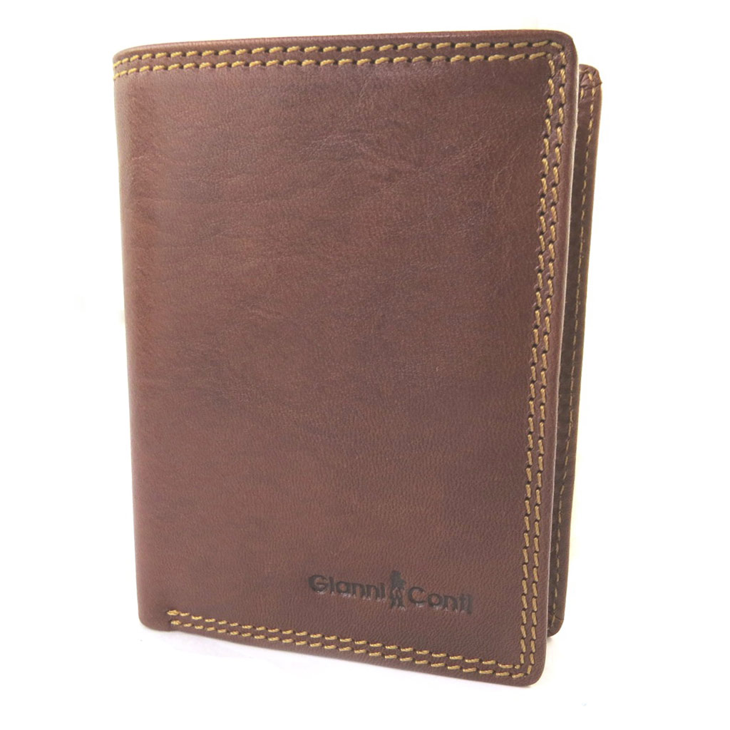 Portefeuille européen cuir \'Gianni Conti\' cognac - 125x10x2 cm - [N8021]