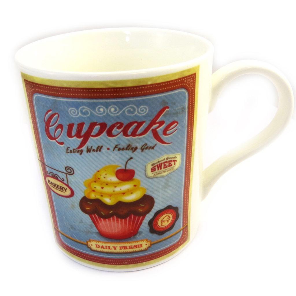 Mug \'Vintage Design\' cupcakes - [M3190]