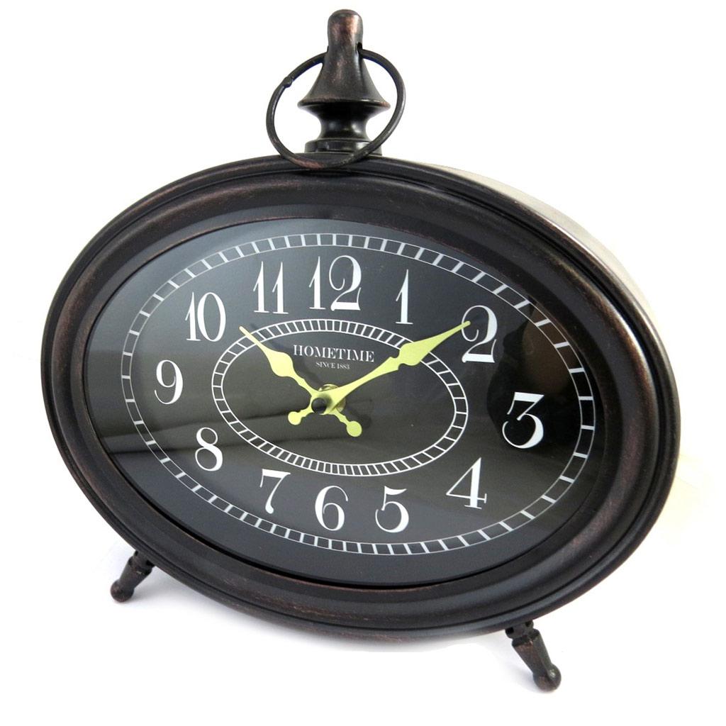 Horloge métal \'Vintage Design\' noir - [M3202]